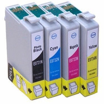 Kit 4 Cartuchos To73n Epson T10 T20 Tx200 Tx209 Tx400/tx409