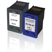 Kit Cartucho Compatível Para Hp 21 27 56 22 28 57 F4180 2510