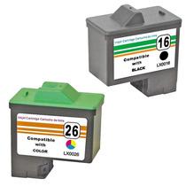 Kit Cartucho Tinta Lexmark 16 | 17 + 26 | 27 X1270 X1195