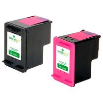 Kit Cartucho Para Hp 60xl | Preto + Colorido Compativel