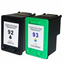 Hp 92 E 93 Preto E Color C9361wb C9362wb Compativel 100%novo