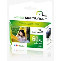 Cartucho Hp 60 Xl Color Compativel 13,5 Ml Co060c Multilaser