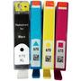 4 Un Hp 670 1 Preto Xl Compativel 3 Color Renew Recartec