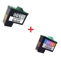 Kit Cartucho Preto 16 E Colorido 26 Para Lexmark X1195 X1185