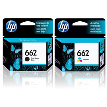 Kit 2 Cartuchos Hp 662 Preto + Color P Deskjet 1516 Original