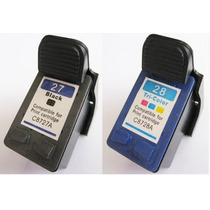 Kit Hp 27 + 28 Compatível Novo Deskjet 3320 3325 3420 +frete