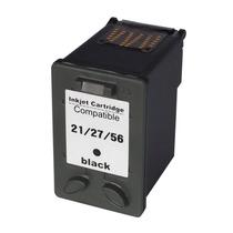 Cartucho De Tinta Hp 21 27 56 Preto (black) Compatível L D13