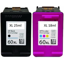 Kit Cartuchos Hp 60 Xl Preto E 60 Color Original + Tintas