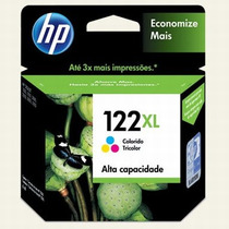 Cartucho Hp 122xl Jato Tinta Tricolor Ch564hb Mania Virtual