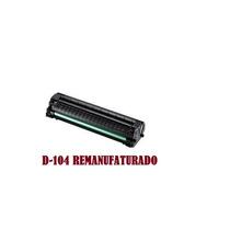 Toner D-104 Recarregado Com Chip E Cilindro Novo