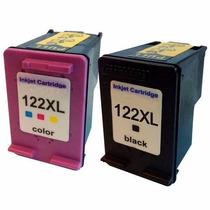 Kit Cartucho Hp 122xl Preto + Colorido Compativel