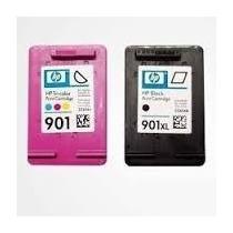 Kit Cartucho Hp 901 Color 15 Ml Black 20 Ml