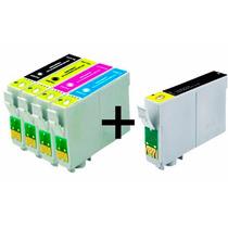 Kit 5 Cartuchos Compatível P/ Impressora Stylus Tx115