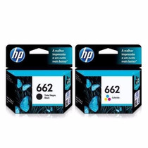 Kit 2 Cartuchos Hp 662 Preto/color P/ Hp 2516 3516 1516 2546
