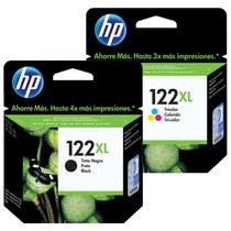 Cartucho Hp 122xl Black + 122xl Color Original Kit Com Desco