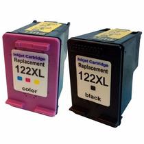 Kit Cartucho Compativel Hp Ch563 + Ch564 (122xl Bk + Cl)