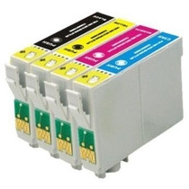 4 Cartuchos P/ Impressora Multifuncional Epson Tx 105 Tx115