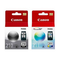 Kit 2 Cartuchos Canon Pg210 Cl211 Para Mp140 Mp240 Mp250