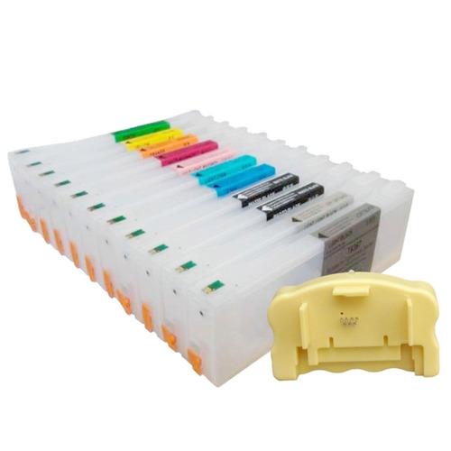 Cartuchos Recarregáveis Para Plotter 7900 Com Chip E Reseter