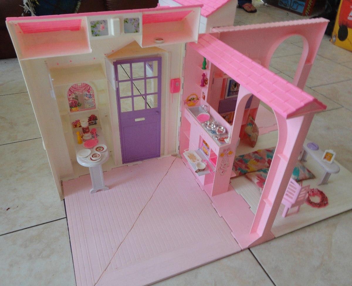 Casa Da Barbie Antiga 1996 Mattel Mexico R$ 800 00 no MercadoLivre #9B3047 1200x976 Banheiro Da Barbie Mercadolivre