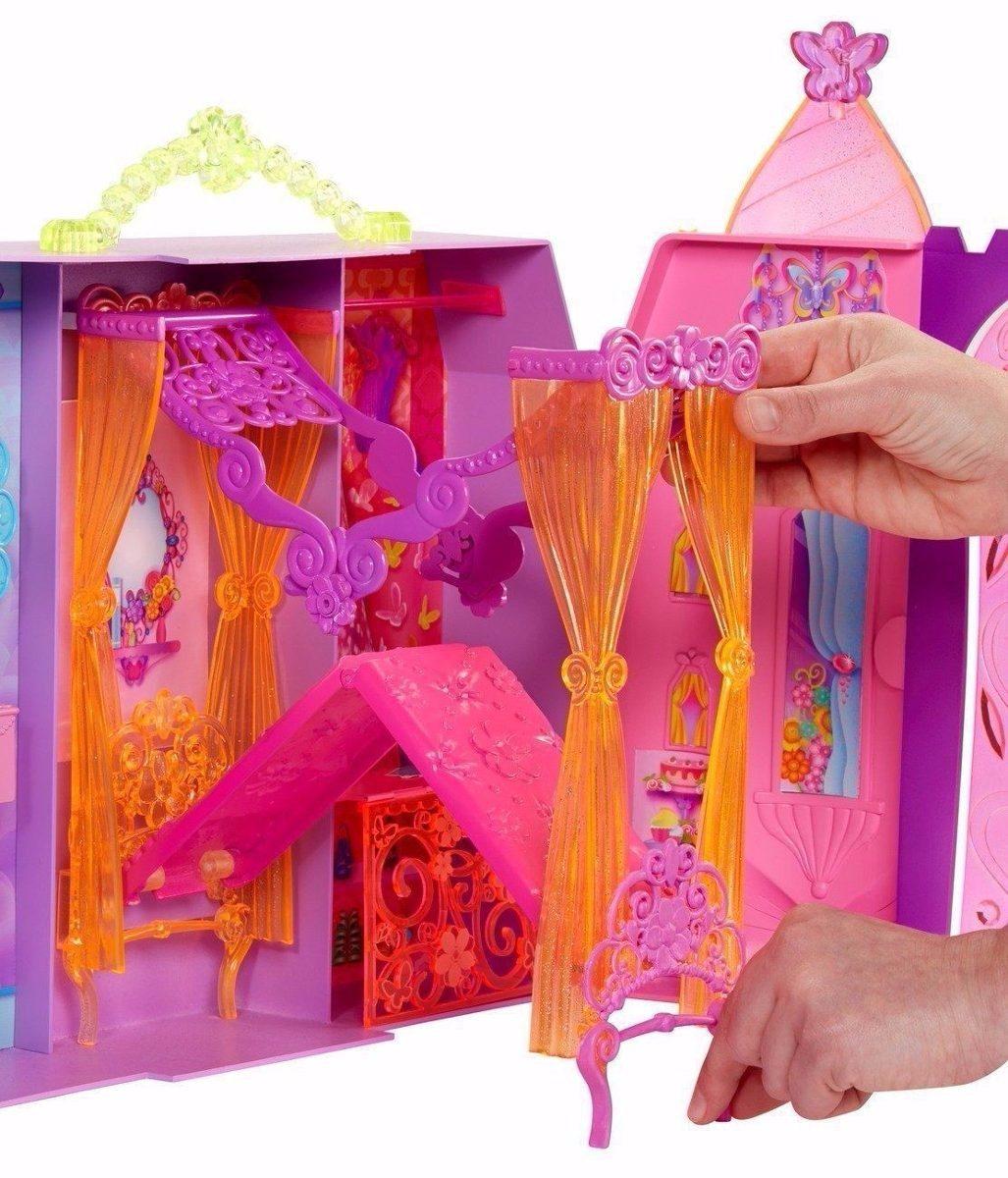 Casa Da Barbie Castelo Importado   Peças Para Montar Luxo R$ 450  #8B1030 1027x1200 Banheiro Da Barbie Mercadolivre