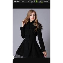 Casaco Trench Coat Inverno Com Tule