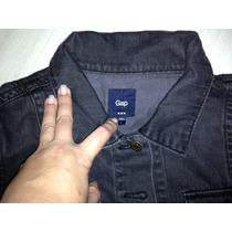 Jaqueta Jeans Da Gap - Black - Tamanho G/l
