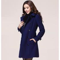Trench Coat Importado Gg Sobretudo Feminino Elegante Em Lã