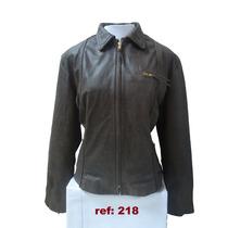 Jaqueta De Couro Legítimo /natural Feminina Ref: 218