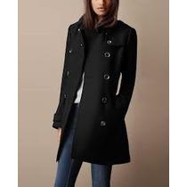 Sobretudo Importado- Gg Trench Coat Em Lã Clássico Elegante