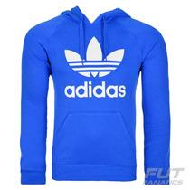 Moletom Adidas Trefoil Azul - Futfanatics