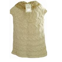 Zara * Espanha * Casaco Colete Lã Nude Gola Pêlo Importado
