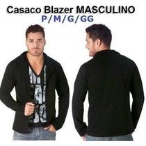 Casaco Jaqueta Blazer Blusa P M G Gg Masculino Blusa Sueter