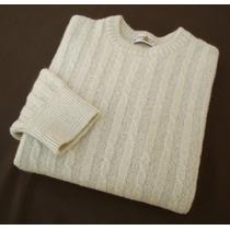 Suéter U-club - Tam L - Creme Mescla - Importado