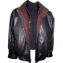 1016 Man Melhor Tailor S Marca Couro Jacket Collar Duplo Mai