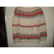 Malha De Lã Em Trico Feito A Mao Tam G