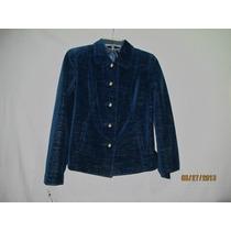 Jaqueta Casaco Importado De Veludo Azul Sigrid Olsen !!!!!