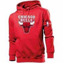 Blusa Moleton Chicago Bulls Nba Basquete 100% Algodão