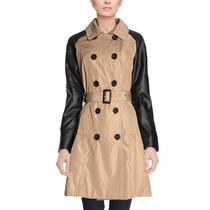 Casaco Trench Coat Sobretudo Semilongo Bege Preto,importado