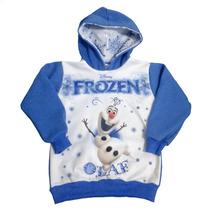 Blusa De Moleton Infantil Flanelado Frozen Olaf Fréte Grátis