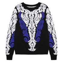 Maravilhoso Suéter Importado Em Lã - Detalhes Em Alto Relevo