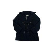 Casaco Trench Coat Infantil Preto Com Cinto - Mini Me
