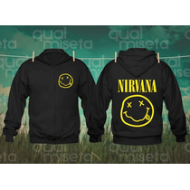 Casaco Moletom Nirvana Bandas Rock Capuz Agasalho Blusa