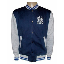 Blusa Moletom New York Yankees Azul E Cinza College