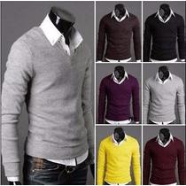 Sueter- Cardigan -blusa De Lã Masculina - Pronta Entrega