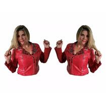 Jaqueta Feminina Importada Couro Pu Sintético Ref 4220