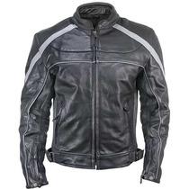 Jaqueta/casaco Couro Xelement Preto/cinza Harley