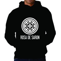 Blusa Rosa De Saron Moletom Canguru - Promoção!