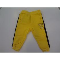 Calça Tigor T. Tigre Em Meia Malha Moletom - Amarelo E Preto