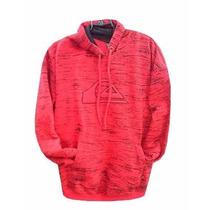 Blusa De Moletom Quiksilver Masculina Vermelha Rajada Casaco